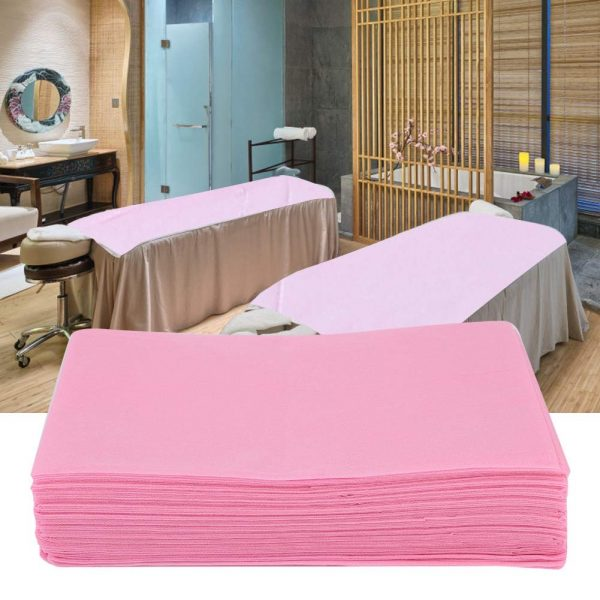 Disposable Non-Woven Bed Sheet, Waterproof and Oil-proof Bed Cover for Beauty Salon SPA